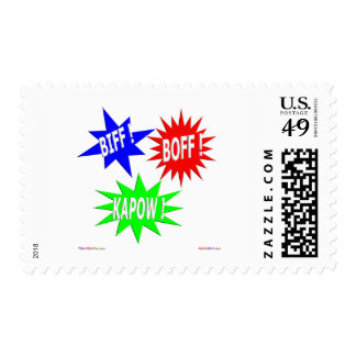 Biff Boff Kapow Postage Stamps