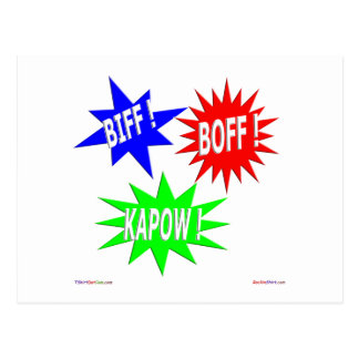 Biff Boff Kapow Postcard