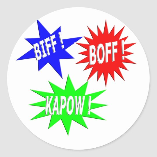 Biff Boff Kapow Sticker
