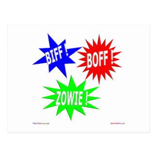 Biff Boff Zowie Postcard