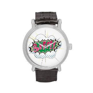 ¡Biff cómico del arte pop! Relojes De Mano