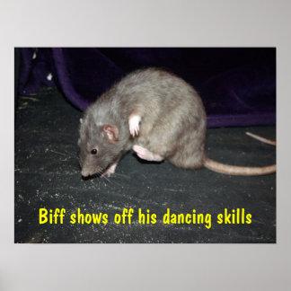 Biff dancing poster