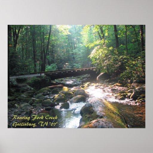 """Bifurcación CreekGatlinburg, TN """"07"""" del rugido Posters"""