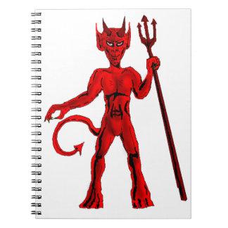 Bifurcación del diablo rojo y de la echada cuaderno