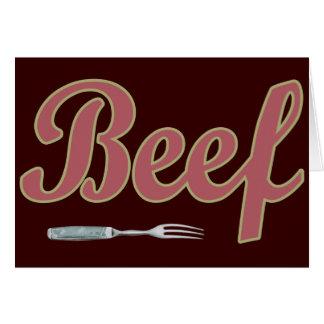 Bifurcación del n de la carne de vaca tarjeta de felicitación