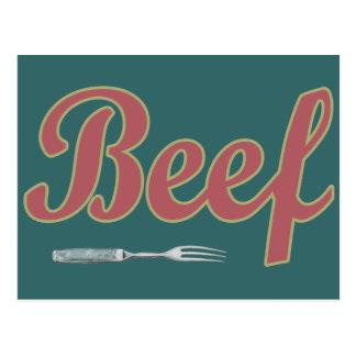 Bifurcación del n de la carne de vaca postal