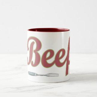 Bifurcación del n de la carne de vaca taza de café