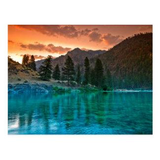 Bifurcación media del río salmonero en Idaho Tarjetas Postales