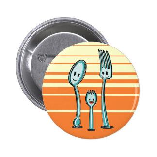 Bifurcación + Spoon= Spork Pin Redondo 5 Cm