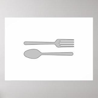 Bifurcación y cuchara poster