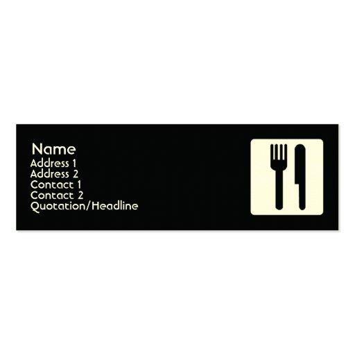Bifurcación y cuchillo - flacos plantillas de tarjetas personales