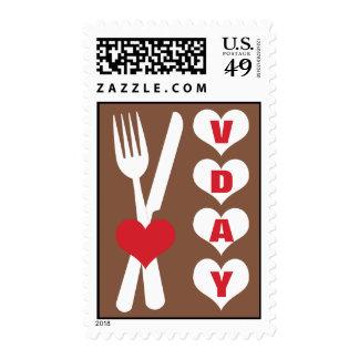Bifurcación y cuchillo - franqueo del el día de sello postal