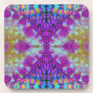 Bifurcation Multiplied V 1  Cork Coaster Set