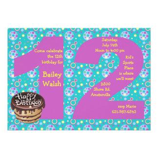 Big 12 Birthday Party Invitation