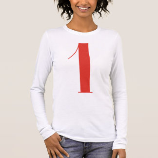 Big 1: Jeanne Moderno Lettres Long Sleeve T-Shirt