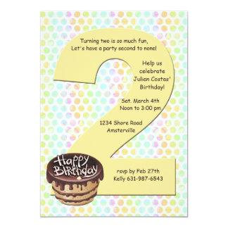 Big 2 Birthday Party Invitation