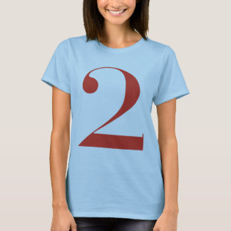 Big 2: Jeanne Moderno Lettres T-Shirt