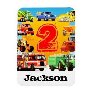 Big 2nd Birthday Trucks Magnet