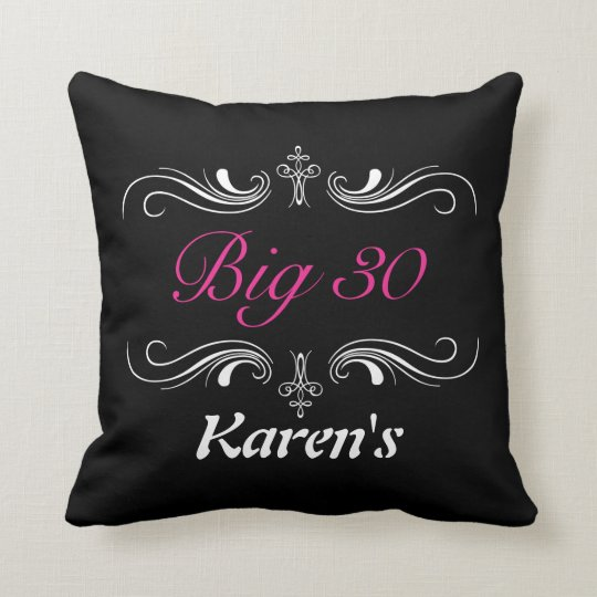 Big Soft Throw Pillows : Big 30 throw pillow Zazzle