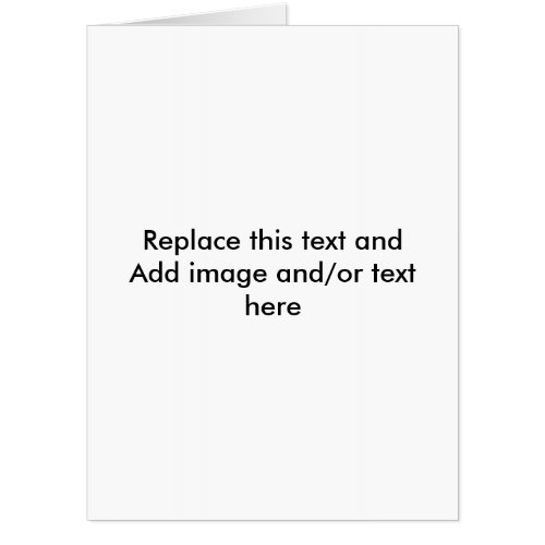 Big 36 x 48 Greeting Card Create Your Own