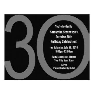 Big 3-0 Birthday Party Invitations