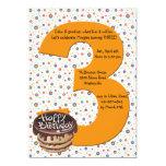 Big 3 Birthday Party Invitation