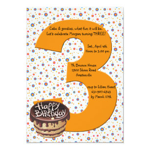 Big 3 Birthday Party Invitation