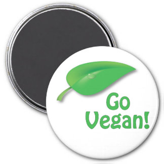 "Big 3"" GO VEGAN! Fridge Magnet"