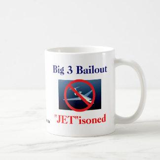 "Big 3 - ""Jet""isoned Classic White Coffee Mug"