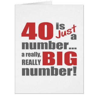 Big 40th Birthday Card