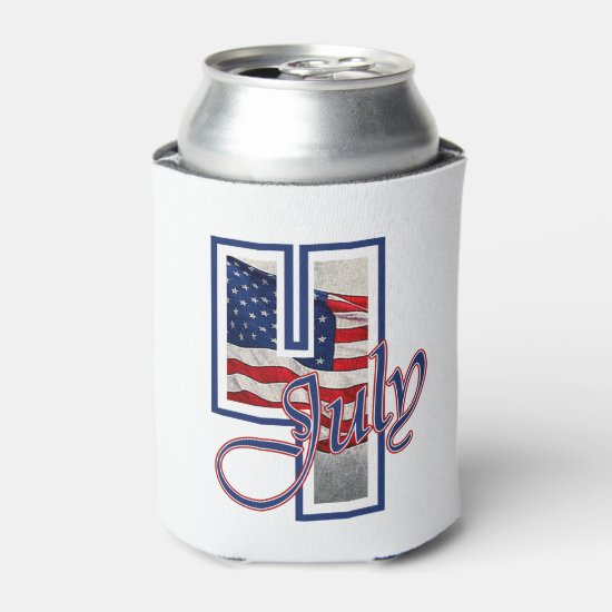 BIG 4 July 4th Beverage Can Cooler