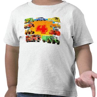 Big 4th Birthday Trucks Tshirts