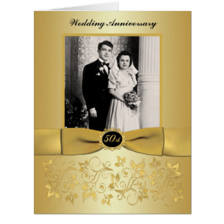 BIG 50th Anniversary Photo Guest Signing Card