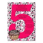 "Big 5 Birthday Party Invitation 5"" X 7"" Invitation Card"