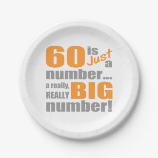 Big 60th Birthday Paper Plate