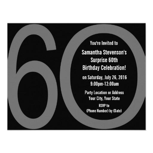 Big 6-0 Party Invitations
