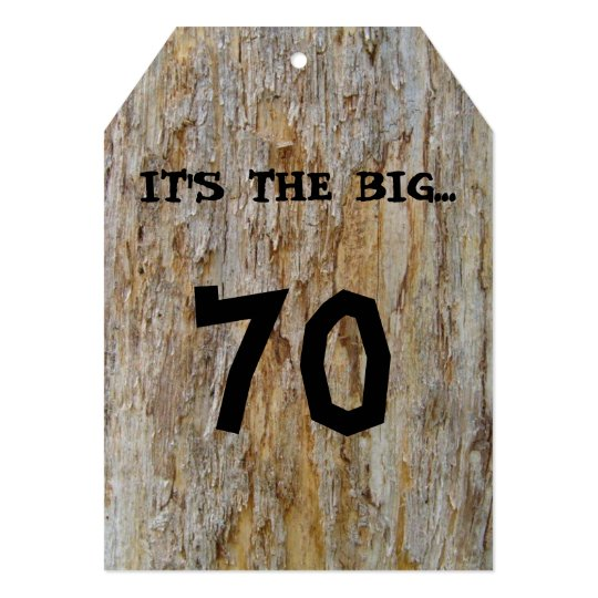 Big 70 Birthday Invitation