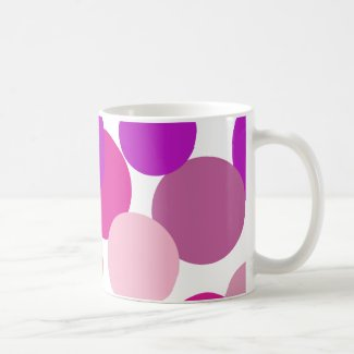 Big 70s polka dots in purple Coffee Mug