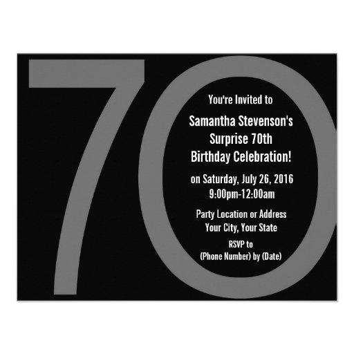 Big 7-0 Birthday Party Invitations