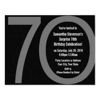 Big 7-0 Birthday Party Invitations