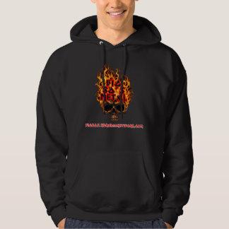 Big 80's Metal Flaming Skull Hoodie