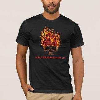 Big 80's Metal Flaming Skull T-Shirt