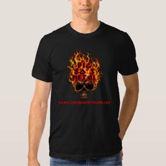 Big 80's Metal Flaming Skull Tees