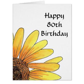 Big 80th Birthday Card