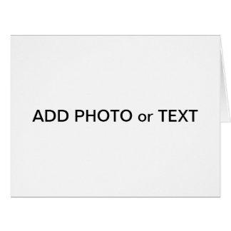 "Big 8.5"" x 11"" Greeting Card Add Photo & Text"