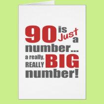 Big 90th Birthday Card