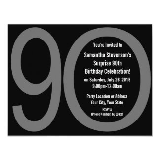 Big 9-0 Birthday Party Invitations