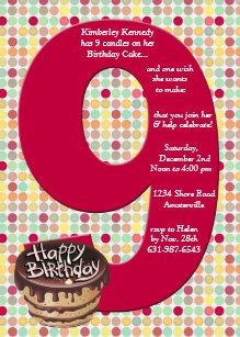9th birthday invitations zazzle big 9 birthday party invitation filmwisefo