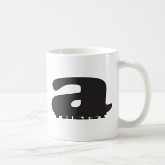 Big 'a' little 'theist' - Cool Atheist Logo Classic White Coffee Mug
