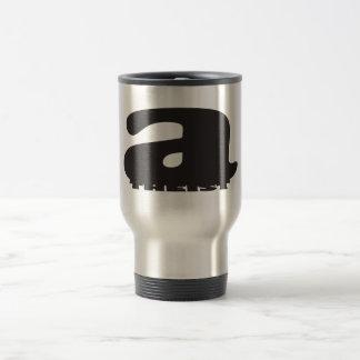 Big 'a' little 'theist' - Cool Atheist Logo 15 Oz Stainless Steel Travel Mug